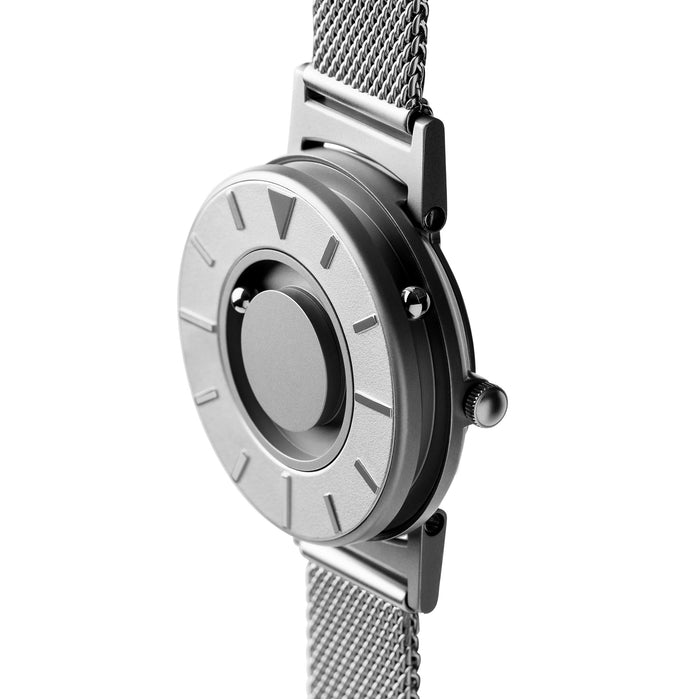 Eone Bradley Mesh 36mm Silver angled shot picture