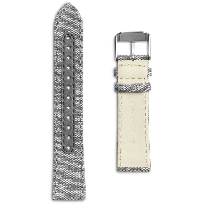 Eone Bradley Compass Salt and Pepper Canvas Strap angled shot picture