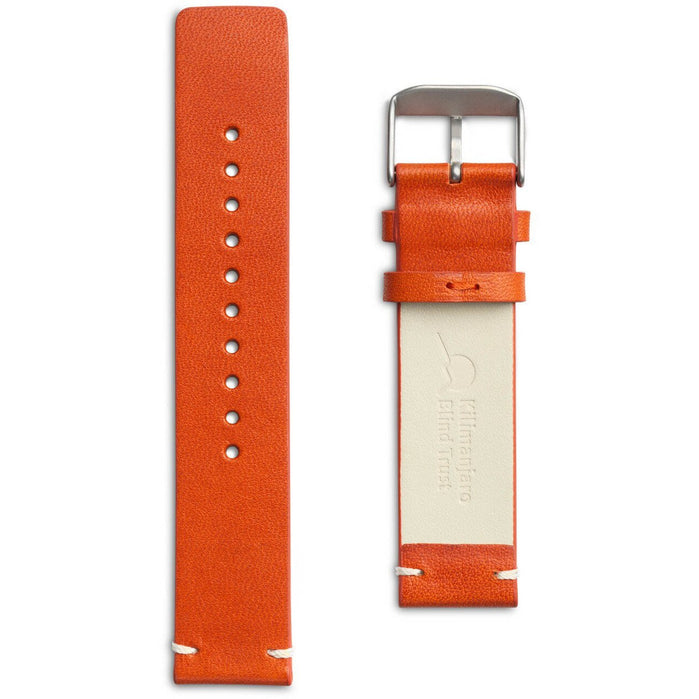 Eone Bradley KBT Orange Leather Strap angled shot picture
