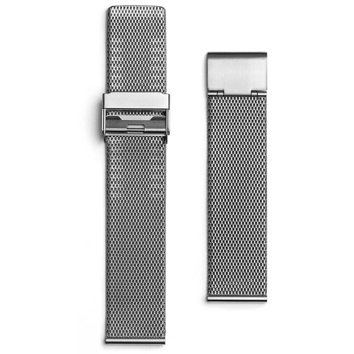 Eone Bradley Silver Mesh Strap angled shot picture