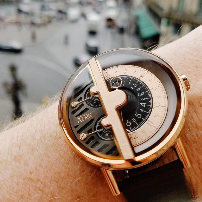 Xeric Soloscope RQ Rose Gold Brown angled shot picture
