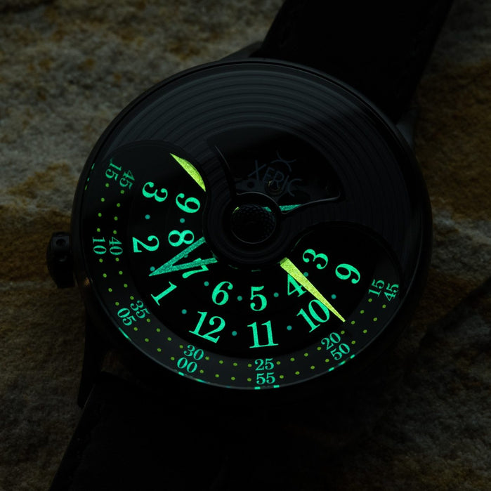 Xeric Evergraph Automatic SS Limited Edition Black angled shot picture