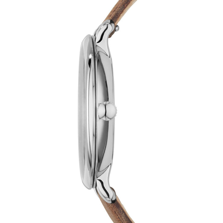 Fossil Jacqueline Silver Brown Leather