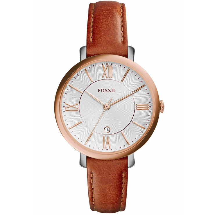 Fossil Jacqueline Rose Gold Cedar Leather