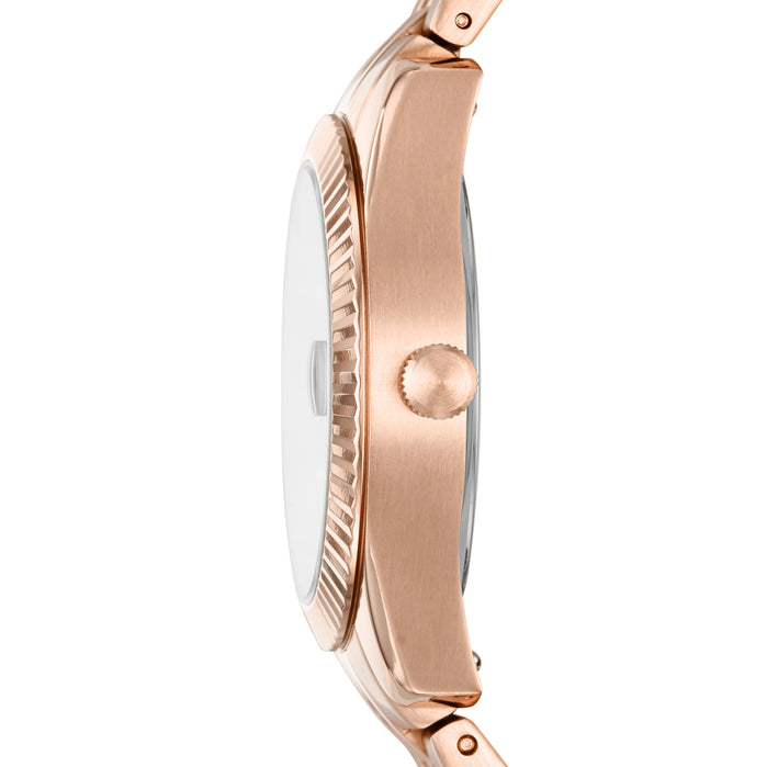 Fossil ES4900 Scarlette Mini Rose Gold Pink angled shot picture