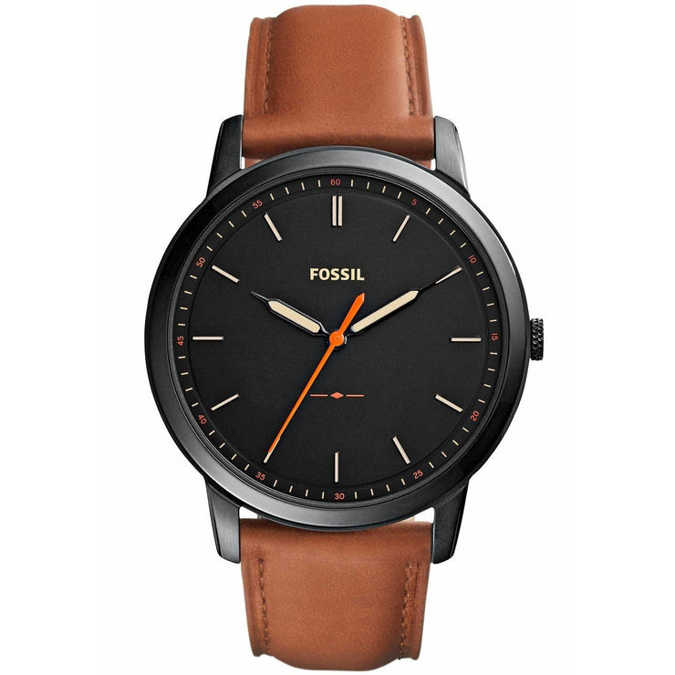 Fossil Minimalist Slim Black Brown Leather