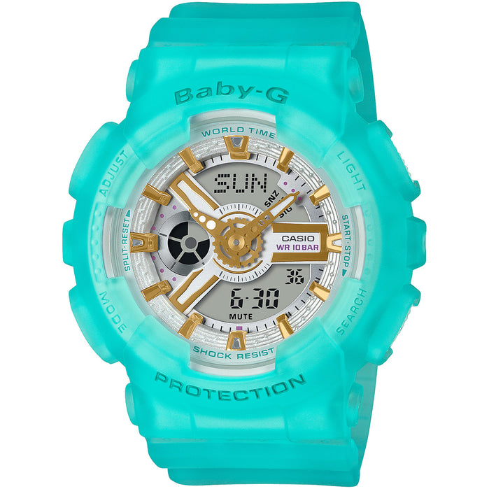 G-Shock Baby-G Sea Glass BA110SC-2A Green angled shot picture