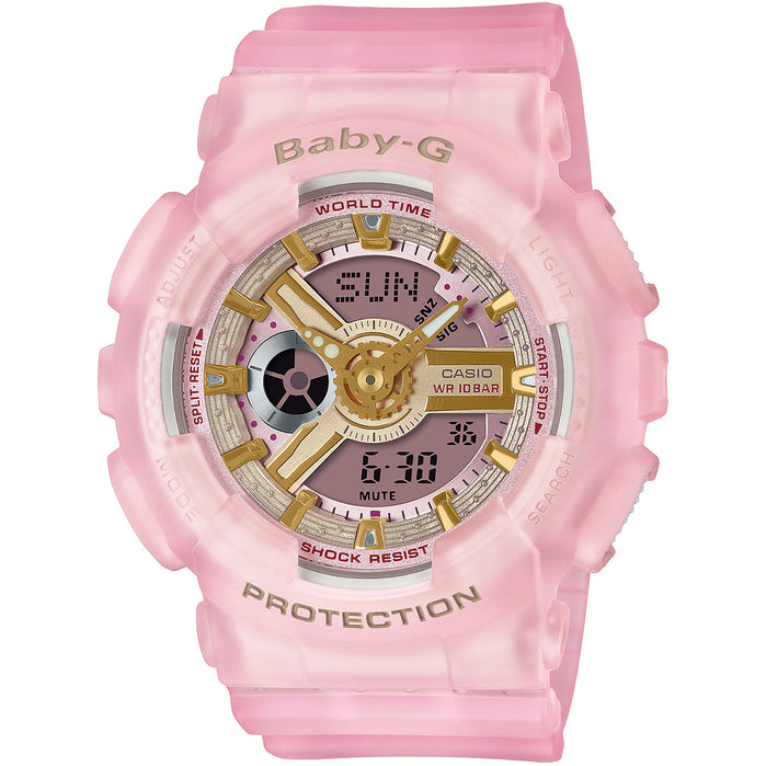 G-Shock Baby-G Sea Glass BA110SC-4A Pink angled shot picture