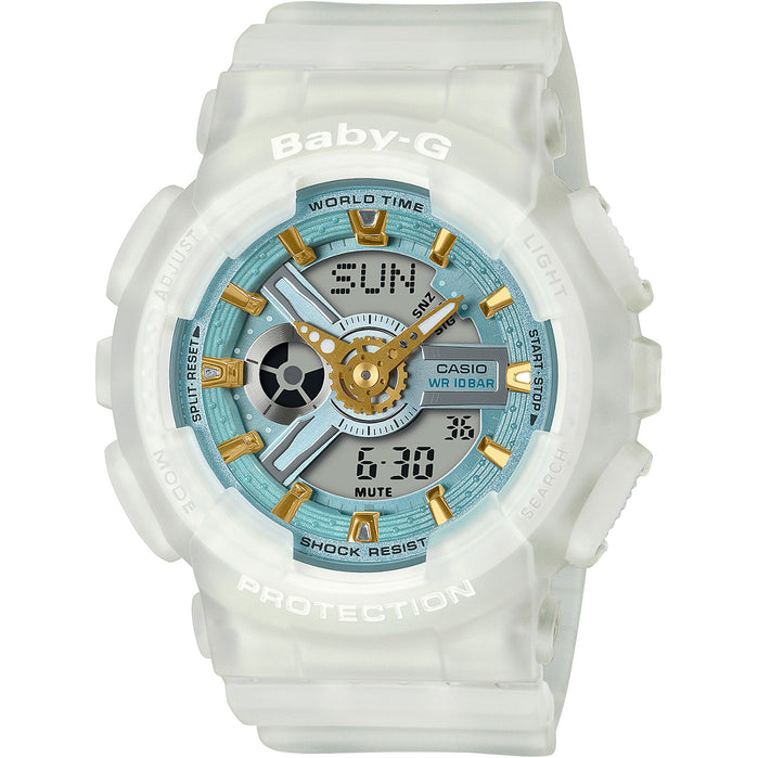 G-Shock Baby-G Sea Glass BA110SC-7A White angled shot picture