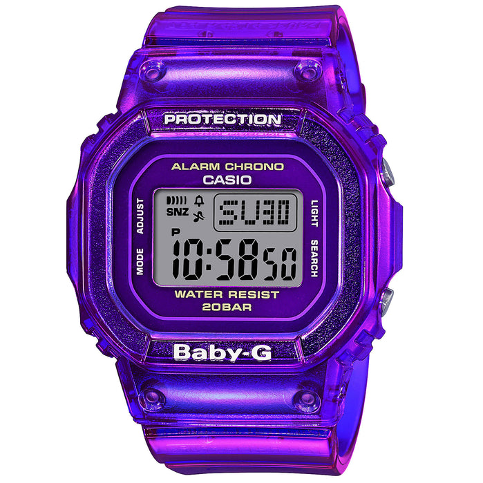 G-Shock Baby-G BGD560S Semi-Transparent Purple angled shot picture