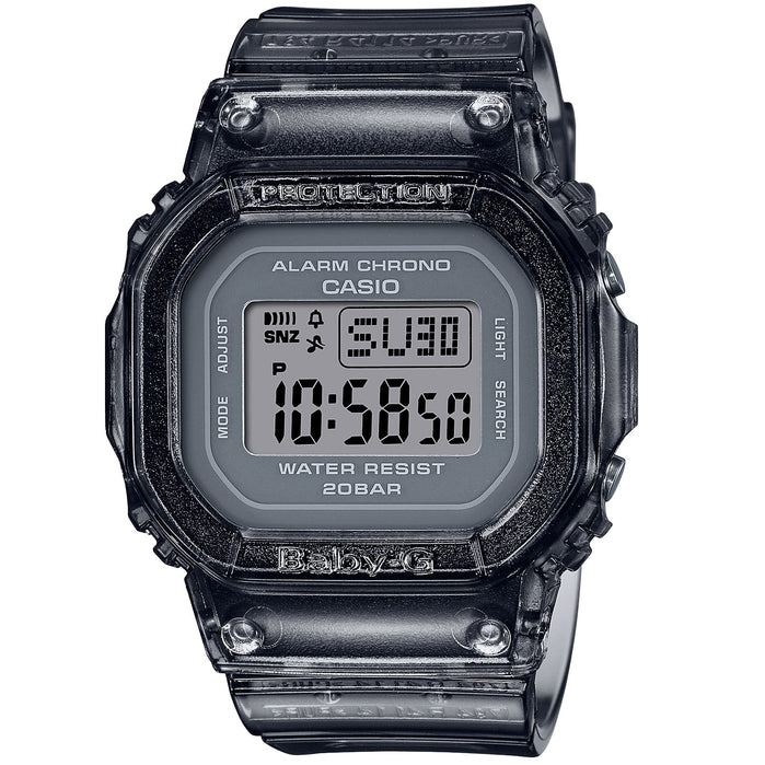 G-Shock Baby-G BGD560S Semi-Transparent Black angled shot picture