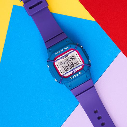 G-Shock BGD525 25th Anniversary Digital Baby-G Black Purple angled shot picture
