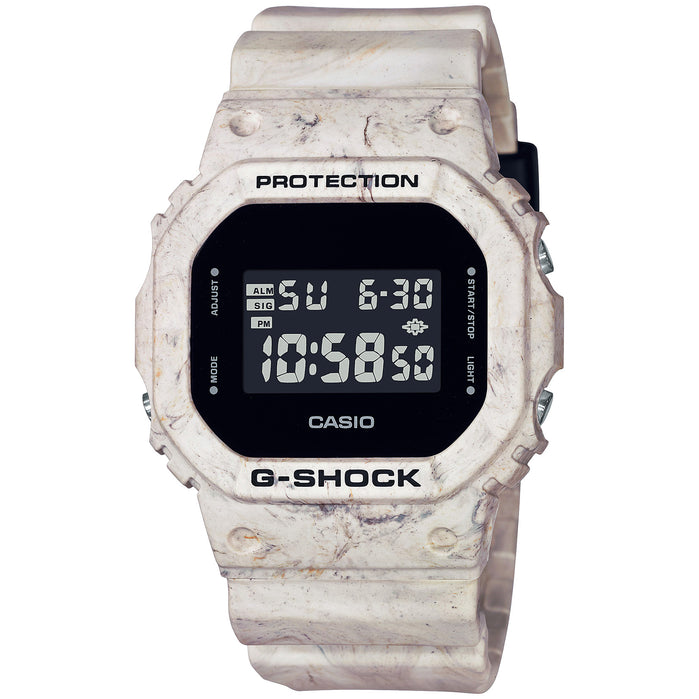 G-Shock DW5600WM Wavy Marble angled shot picture
