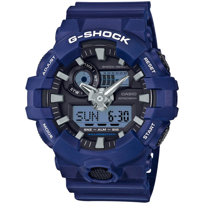 G-Shock GA-700 Ana-Digi Blue angled shot picture