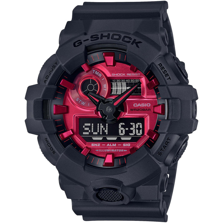 G-Shock GA700AR Ana-Digi Solar Red Black