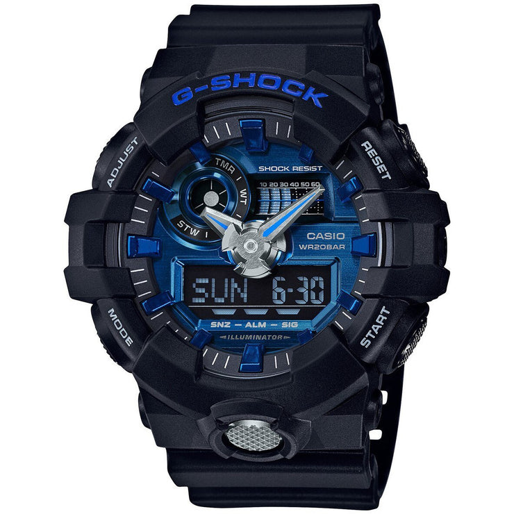G-Shock GA-710 Anadigi Black Blue