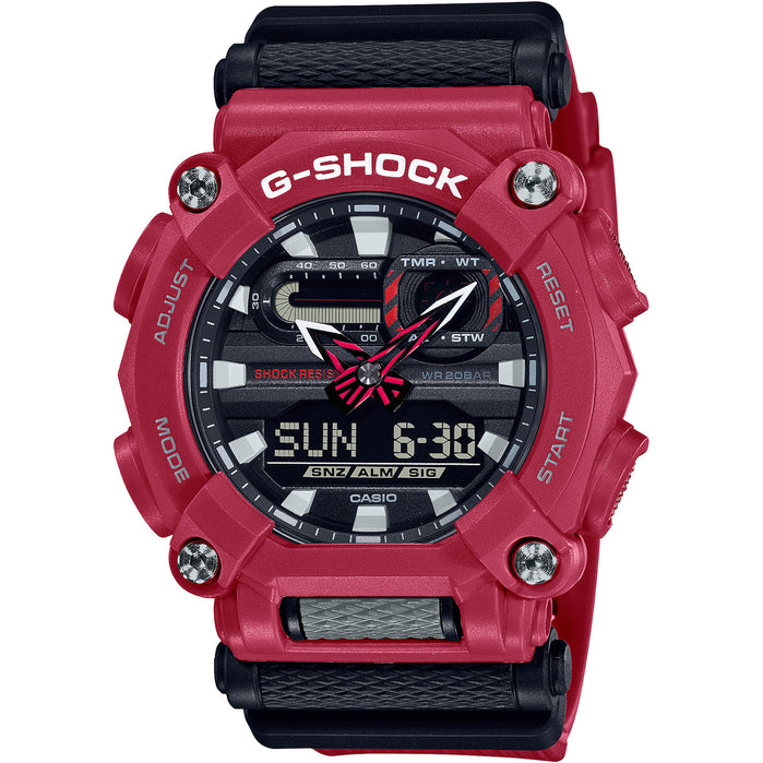 G-Shock GA900 Black Red angled shot picture