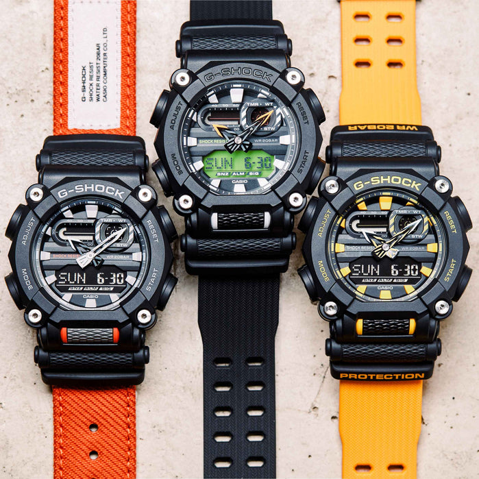 G-Shock GA900 Black Orange angled shot picture