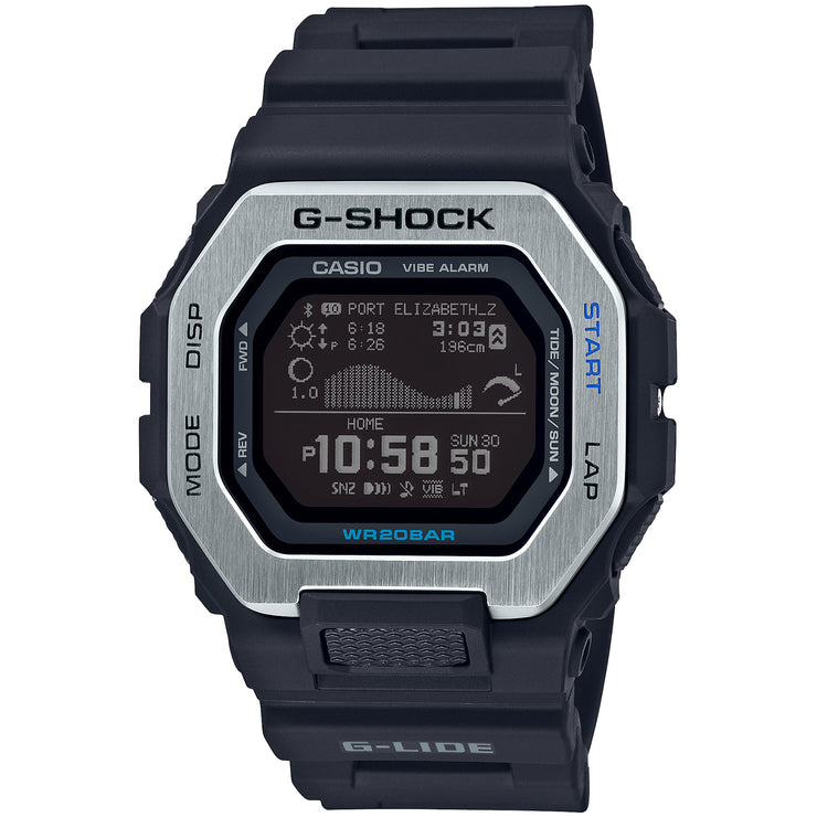 G-Shock G-Lide Tidal Connected GBX100-1 Black Silver