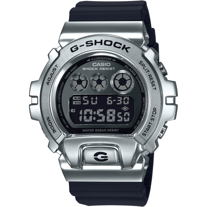 G-Shock 25th Anniversary Metal GM6900-1 Silver angled shot picture