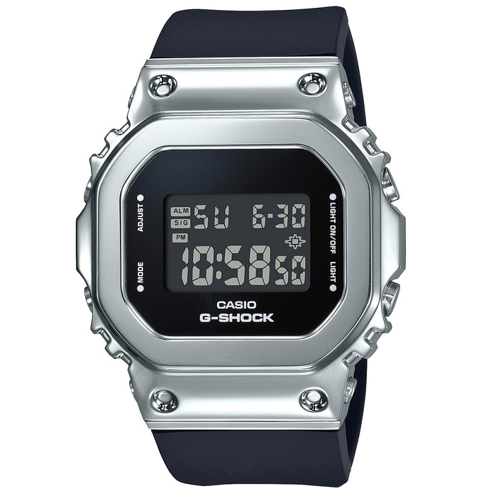 G-Shock GM-S5600 Full Metal Silver Black angled shot picture