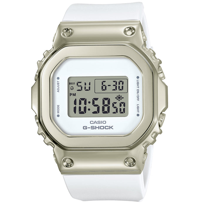G-Shock GM-S5600 Full Metal Gold White angled shot picture
