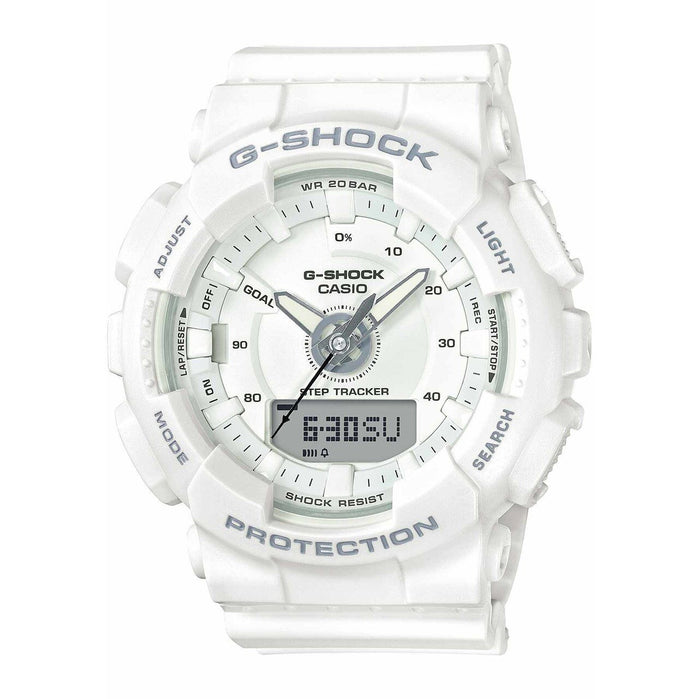 G-Shock GMAS130 S Series White angled shot picture