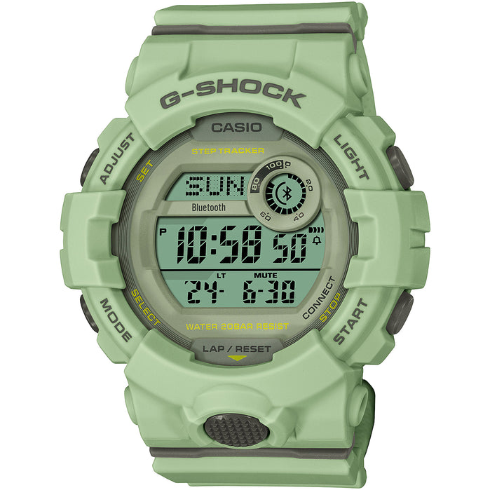 G-Shock GMDB800 G-Squad Connected Fitness Green angled shot picture