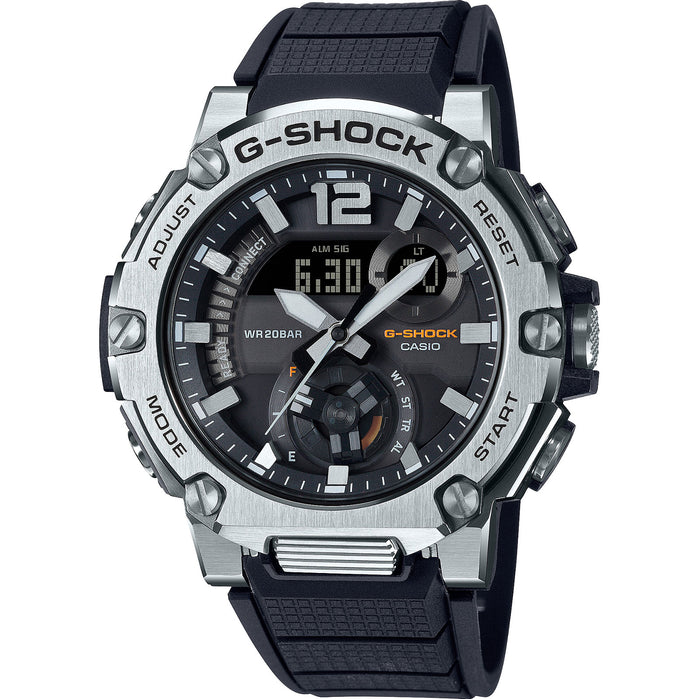 G-Shock GSTB300S-1A G-Steel Connected Silver Black angled shot picture