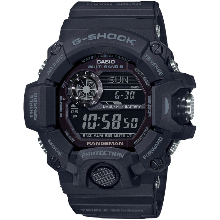 G-Shock Blackout Rangeman GW9400-1B Solar angled shot picture