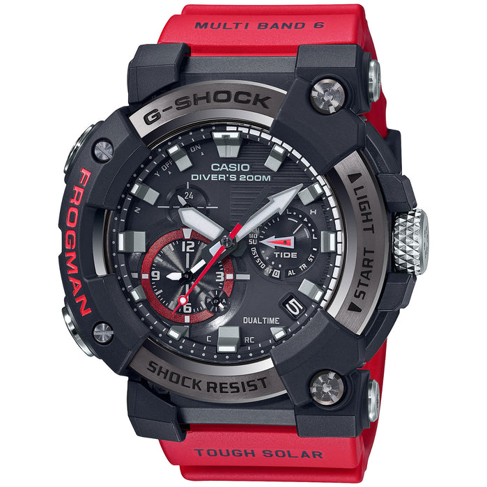 G-Shock Master-G Frogman Connected GWFA1000-1A4 Tide Solar Red angled shot picture