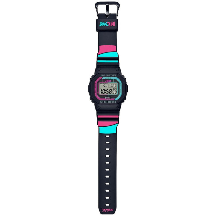 G-Shock GWB5600 Gorillaz Collaboration Classic Digital Black Pink angled shot picture