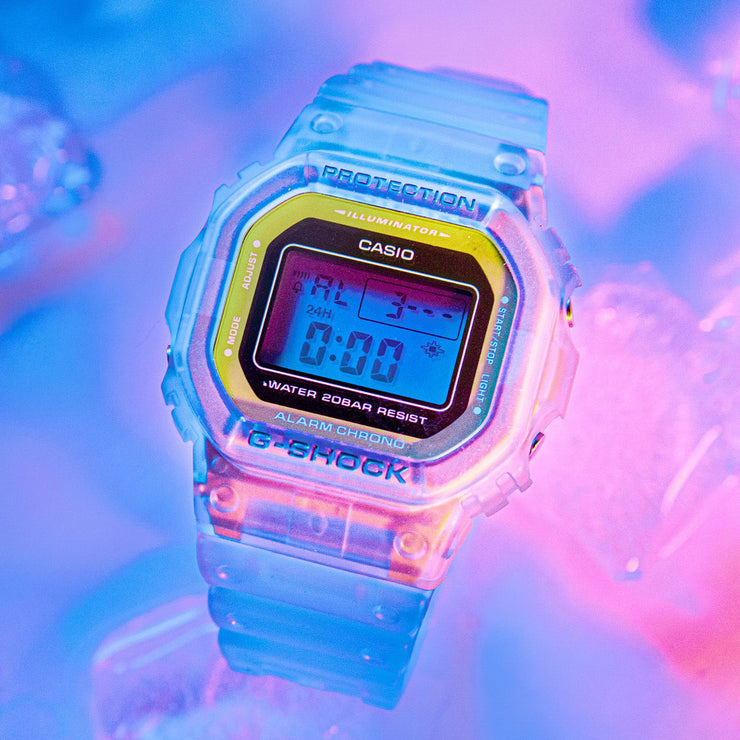 G-Shock DW5600 Color Skeleton Blue
