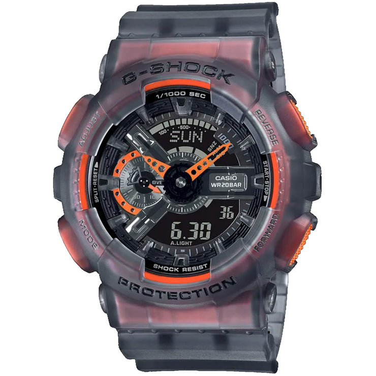 G-Shock GA110LS Transparent Gray Orange