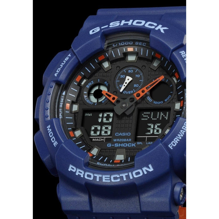 G-Shock GA-100 Military Series Navy angled shot picture
