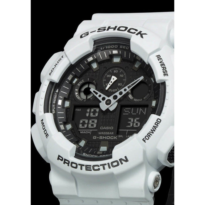 G-Shock GA-100 Military Series White angled shot picture