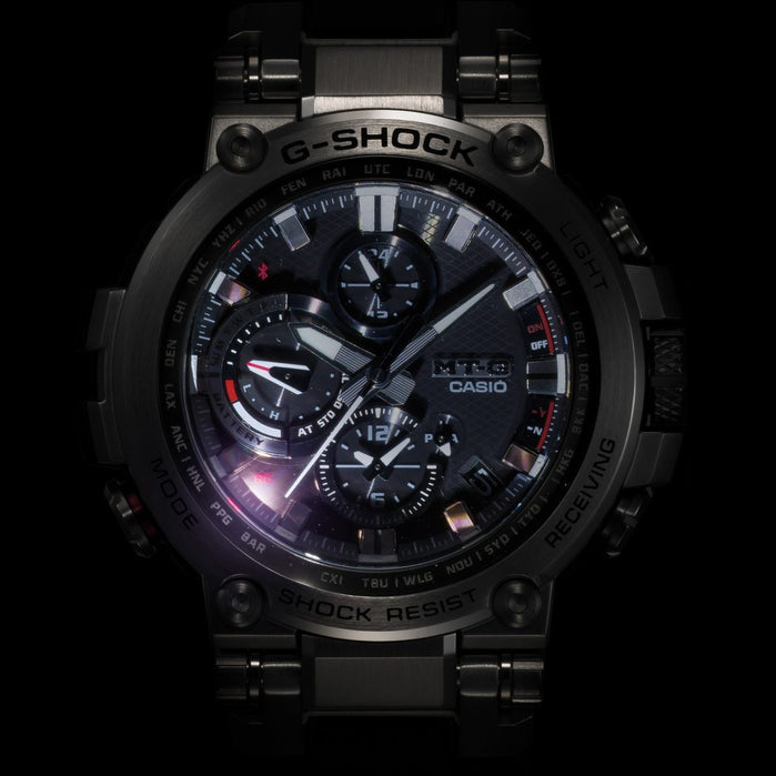 G-Shock MTG-B1000 Connected Black angled shot picture