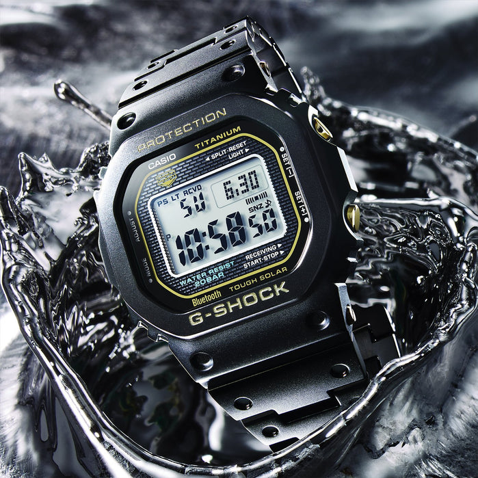 G-Shock GMWB5000 Titanium Connected Digital Black angled shot picture