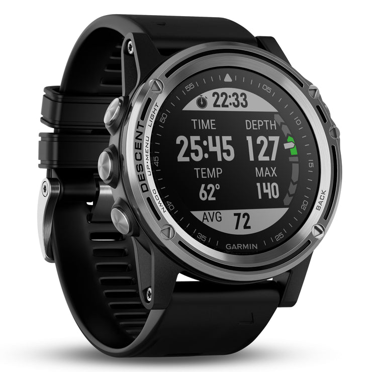 Garmin GPS Smartwatch Descent Mk1 Silver Black
