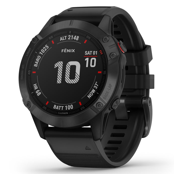 Garmin GPS Smartwatch fenix 6 Pro Black angled shot picture