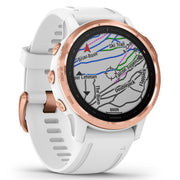 Garmin GPS Smartwatch fenix 6S Pro Rose Gold White