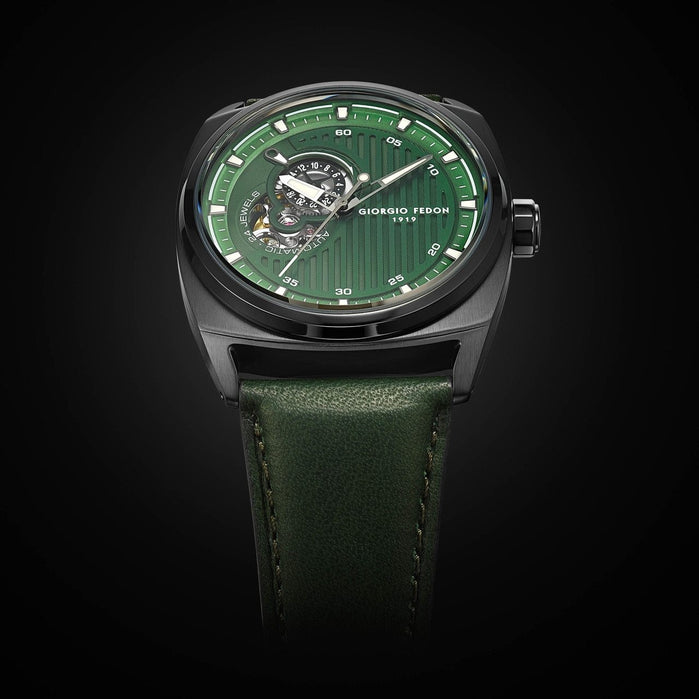 Giorgio Fedon 1919 Legend Automatic Green Black angled shot picture