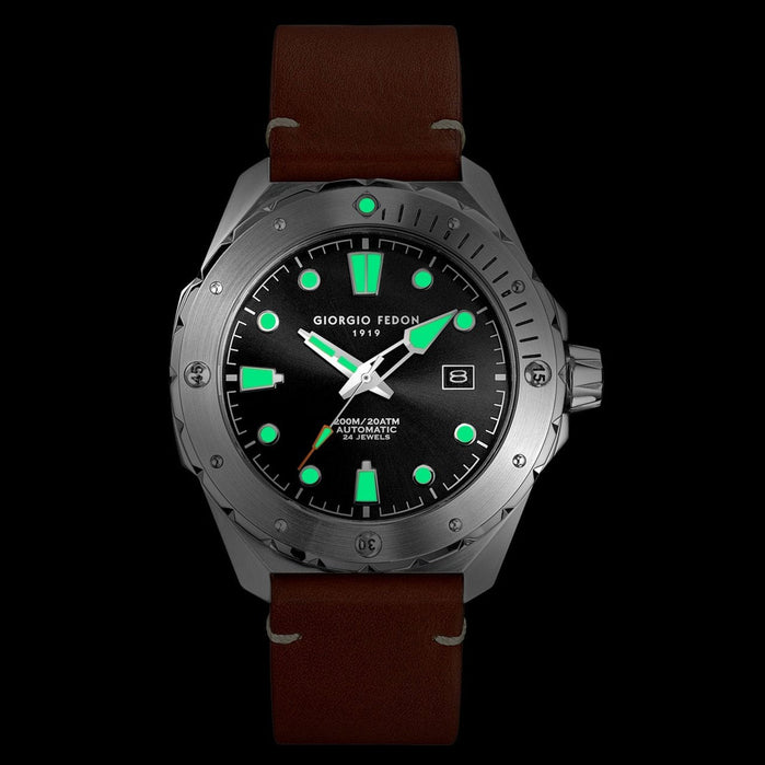 Giorgio Fedon 1919 Ocean Walker Automatic Black Brown angled shot picture