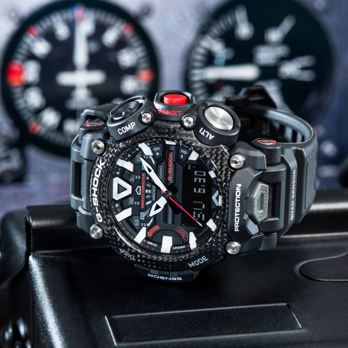 G-Shock GRB200 Gravitymaster Connected Carbon Black angled shot picture