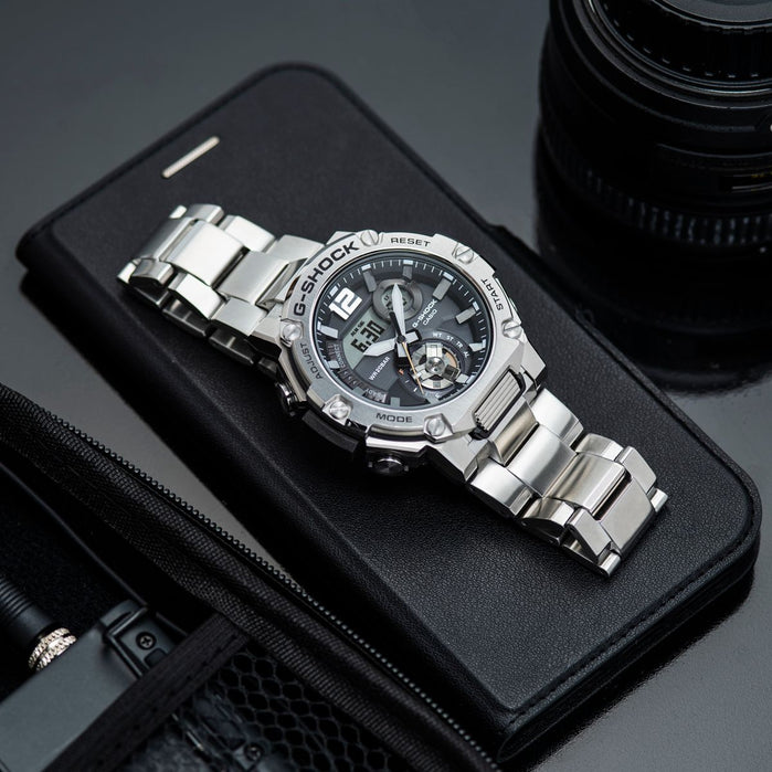 G-Shock GSTB300SD-1A G-Steel Connected Silver angled shot picture