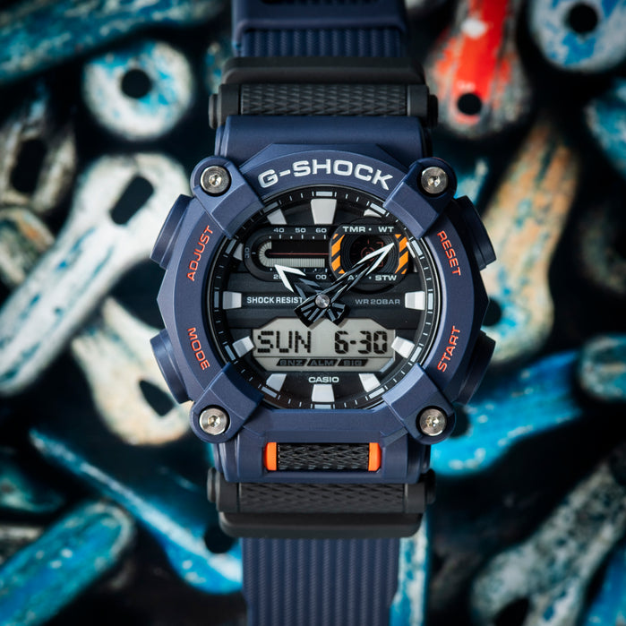G-Shock GA900 Blue Black angled shot picture