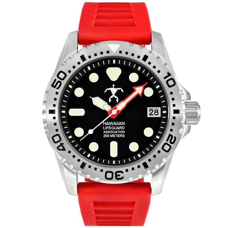 Hawaiian Lifeguard Association Black Red