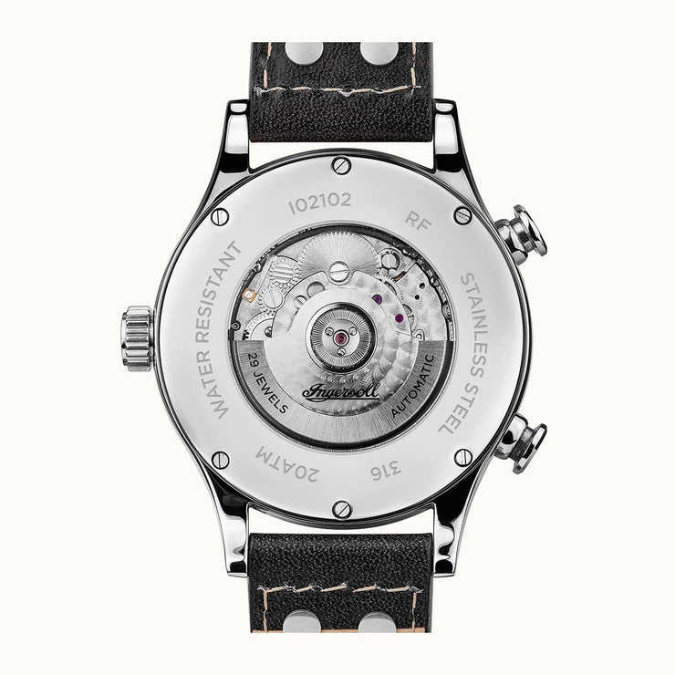 Ingersoll Armstrong Calendar Automatic Silver Black