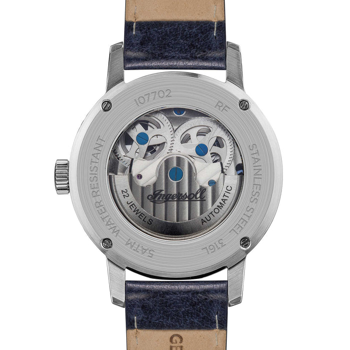Ingersoll Jazz Automatic Silver Blue angled shot picture