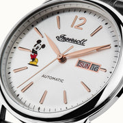 Ingersoll New Haven Automatic Mickey Mouse Silver Black